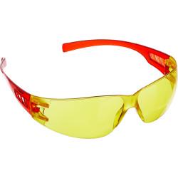 Желтые очки защитные открытого типа ЗУБР Мастер, пластиковые дужки / 110326